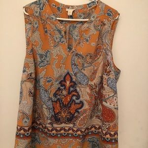 Lucy & Laurel sleeveless blouse